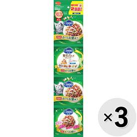 【セット販売】コンボ キャット 4連パック 海の味わいメニュー かつお節添え 160g(40g×4連)×3コ