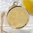 【送料無料】K24 コイン ネックレス ペンダント純金 ゴールド 18k 24k 18金 24金 ジュエリー 地金ネックレス 地金ペン…