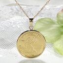 【送料無料】K24 コイン ネックレス ペンダント純金 ゴールド 18k 24k 18金 24金 ジュエリー 地金ネックレス 地金 ペ…