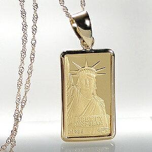 【送料無料】K24 リバティ コイン ネックレス ペンダント純金 ゴールド 18k 18金 24金 ジュエリー 地金ネックレス 地金ペンダント 可愛い 人気 プレゼント 誕生日 母の日 自由の女神 クレジット