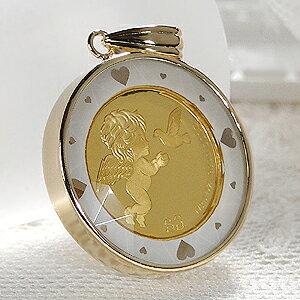 【限定2個】K24 コイン ネックレス ペンダント トップ【送料無料】純金 ゴールド 18k 24k 18金 24金 ジュエリー 地金ネックレス 地金ペンダント ハート プレゼント 誕生日 母の日 ツバル ツバル