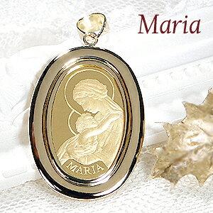 【送料無料】K24 聖母マリア コイン ネックレス ペンダント トップ純金 ゴールド 18k 24k 18金 24金 ジュエリー 地金ネックレス 地金 ペンダント 可愛い 人気 プレゼント 誕生日 母の日 マリア パ