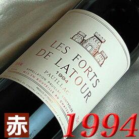 1994年 レ・フォール ド・ラトゥール [1994] 750ml フランス ワイン ボルドー ポイヤック 赤ワイン フルボディ [1994] 平成6年 お誕生日 結婚式 結婚記念日の プレゼント に誕生年 生まれ年のワイン!
