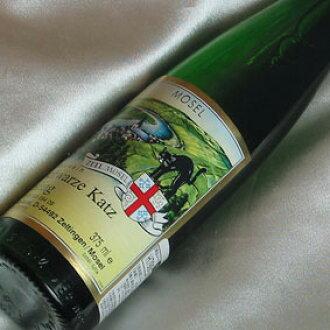 zerubahhashuwarutsu·猫QbA半瓶Selbach Zeller Schwarze Katz QbA 1/2德国葡萄酒/摩泽尔白葡萄葡萄酒/白葡萄酒/稍稍带甜味的/375ml