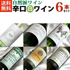 自然派ワイン【辛口白ワインセット】■送料無料■ さわやか! 白ワイン飲み比べ6本セットVer.13【ビオワイン 有機ワイン 有機栽培ワイン bio オーガニックワインセット】
