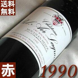 【送料無料】 1990年 シャトー・ベル・エール ラグラーヴ 750ml フランス ワイン ボルドー ムーリス 赤ワイン ミディアムボディ [1990] 平成2年 お誕生日 結婚式 結婚記念日の プレゼント に誕生年 生まれ年 wine 酒