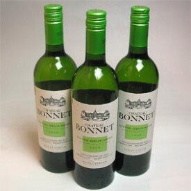 【送料無料】シャトー ボネ・ブラン 3本セットChateau Bonnet Blanc フランスワイン/ボルドー/白ワイン/辛口/750ml×3【楽天 通販 販売】【まとめ買い 業務用にも!】