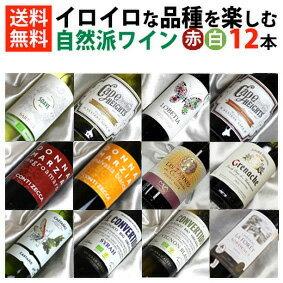 ■□送料無料□■ 自然派赤白ワイン イロイロな品種を楽しむ飲み比べ12本セットVer.8 ビオロジックワインもたくさん入っています!【赤白ワインセット】【自然派ワイン ビオワイン 有機ワイン bio オーガニックワインセット】