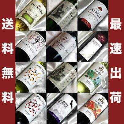 ■□送料無料□■ フランス、イタリア、スペイン、ニューワールドを飲み比べ 赤ワイン8本、白ワイン4本のワイン12本セット ギフト・贈り物にも、デイリーにも【ワイン ギフト】【ミックスセット】【ワインセット 12本】【楽天 通販】