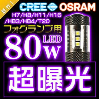★ ★ prior release 80w true 20w-CREE +60w OSRAM's LED bulb ( H11/H8/HB4/HB3/H7/T20/H16/S25) fog lamps LED two set brightness loopholes group ★ 12v/24v polar year warranty ◆ ◆ ◆