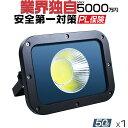 LED投光器 50W 壁掛け照明「1個売り」 Wパワー2倍の明るさ 新作2019モデル 3Mコード防水プラグ仕様 防水防塵 LED 投光…