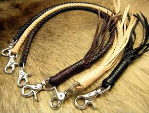 【メーカー保証】 ウォレットロープ 革 サドルレザー ロープ 太編み 本革 バイカーズウォレット ナチュラル・ブラック・ブラウン