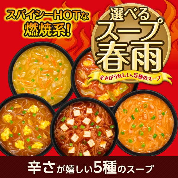 <まとめ買いがお得>【ピリ辛・燃焼系】選べるスープ春雨 スパイシーホット60食<1食あたり45〜58kcal>[ひかり味噌 はるさめスープ]
