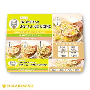ひかり味噌 Dr.かまたのおいしい寒天雑炊12食×2箱雑炊セット レトルト 玄米 ダイエット 夜食に 即席 簡単 便利 低カロリー