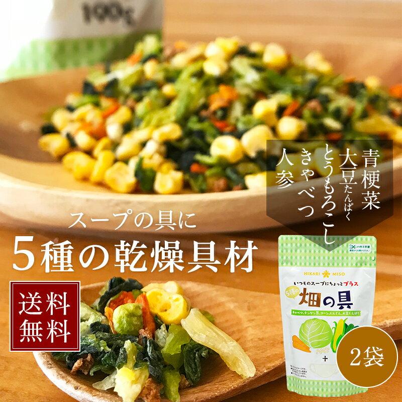 【送料無料】乾燥野菜ミックス190g×2袋 <5種のスープの具>畑の具