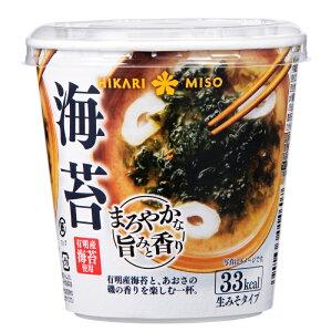 カップみそ汁 まろやかな旨みと香り 海苔×6カップ味噌汁 即席みそ汁 インスタント 簡単 便利 即席 手軽 生みそ メーカー公式 ひかり味噌