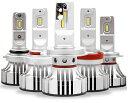 RoyalGuard LED 12V 24V 16000LM 6000k LED ヘッドライト H4 HI/Lo LEDフォグ H8 H9 H11 H16 HB3 HB4 2本入り