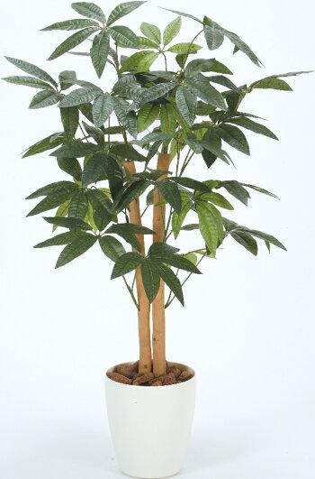 光触媒光の楽園パキラ【インテリアグリーンフロアタイプ人工観葉植物】高さ90cm