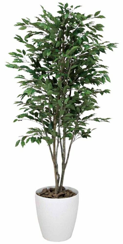 光触媒 光の楽園 ベンジャミンツリー 高さ1.6m【インテリアグリーン 人工観葉植物 大型】