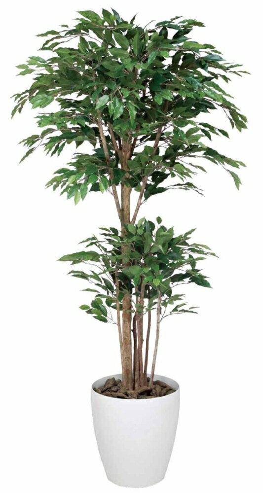 光触媒 光の楽園 トロピカルベンジャミン 高さ1.6m【インテリアグリーン 人工観葉植物】