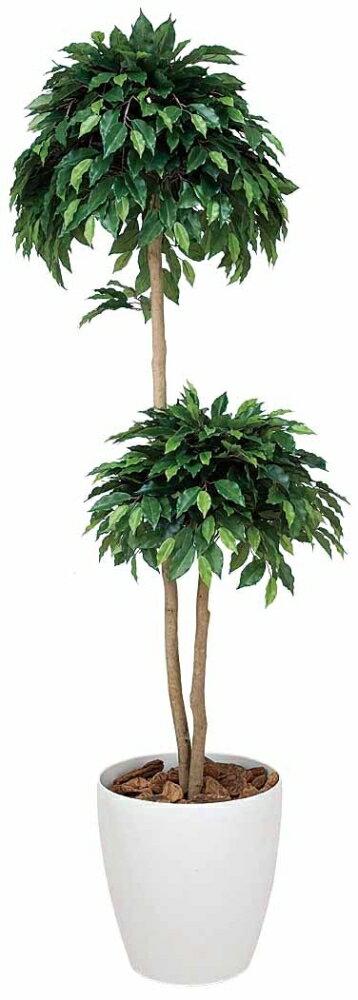 光触媒 光の楽園ベンジャミンダブル 高さ1.8m【インテリアグリーン 人工観葉植物】