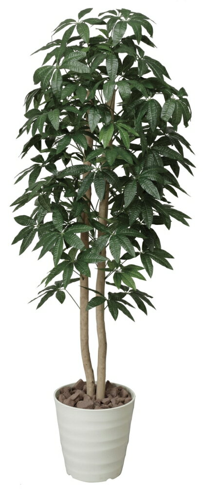 光触媒 光の楽園パキラツリー 1.6m【インテリアグリーン 人工観葉植物】
