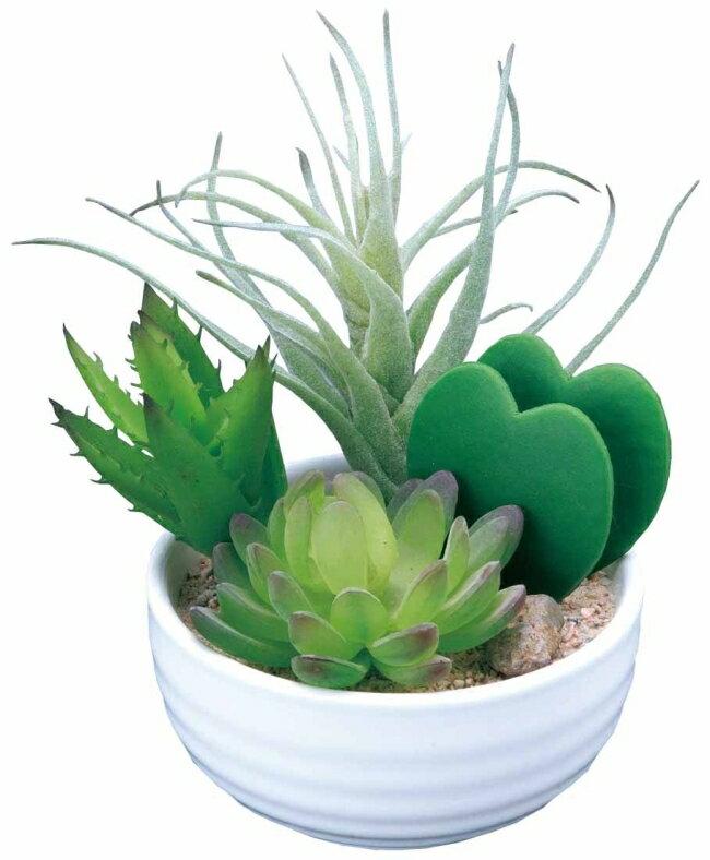 光触媒 光の楽園 寄せ植えラブリー【インテリアグリーン 人工観葉植物】