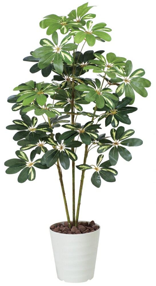 光触媒 光の楽園カポック斑入り 高さ1.2m【インテリアグリーン 人工観葉植物】