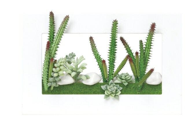 光触媒 人工観葉植物 光の楽園 3Dアート多肉植物【壁掛け・リース・タペストリー 造花】