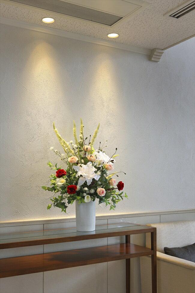 光触媒 造花光の楽園 トリムカサブランカフラワーアレンジメント