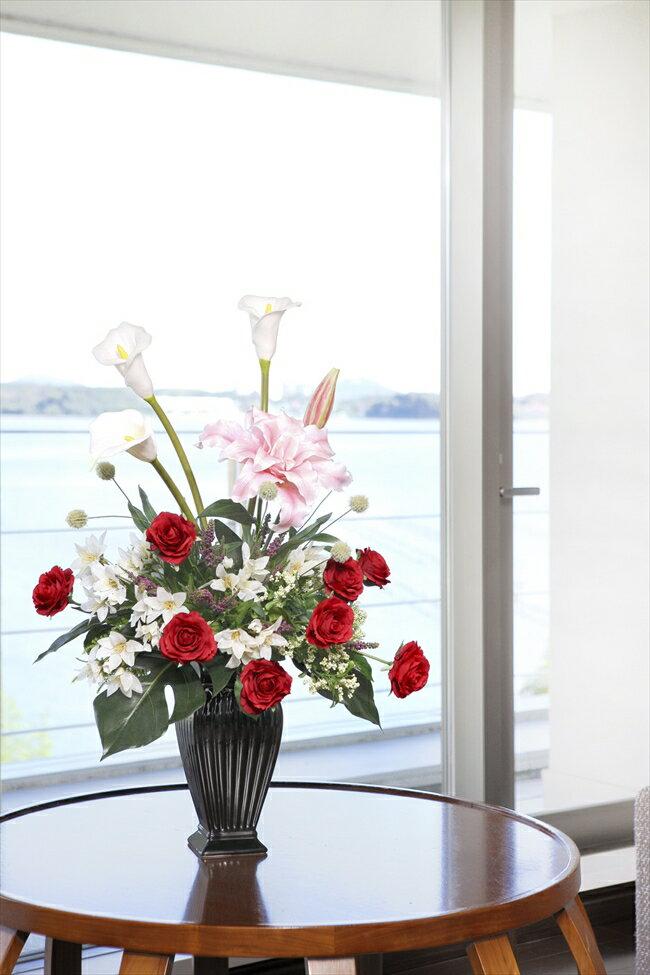 光触媒 造花光の楽園 グレースカサブランカフラワーアレンジメント
