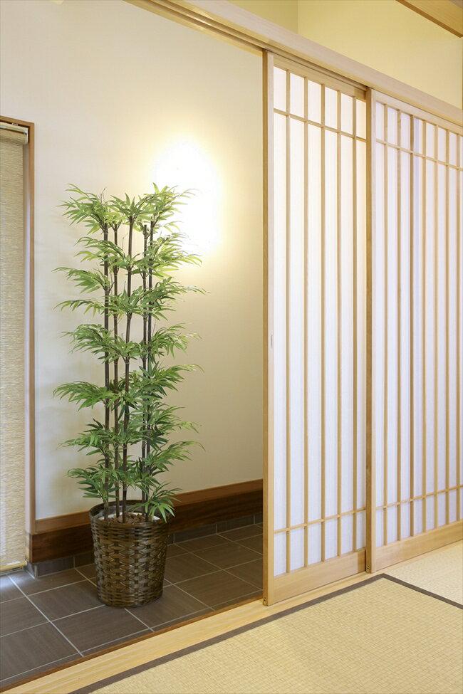 光触媒 人工観葉植物光の楽園 黒竹 1.8mインテリア フェイクグリーン