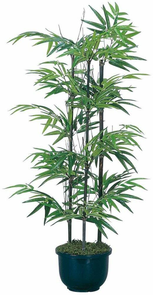 光触媒 光の楽園 黒竹1.3m 幹:天然竹 ◆直営店限定商品◆ 【インテリアグリーン 人工観葉植物】