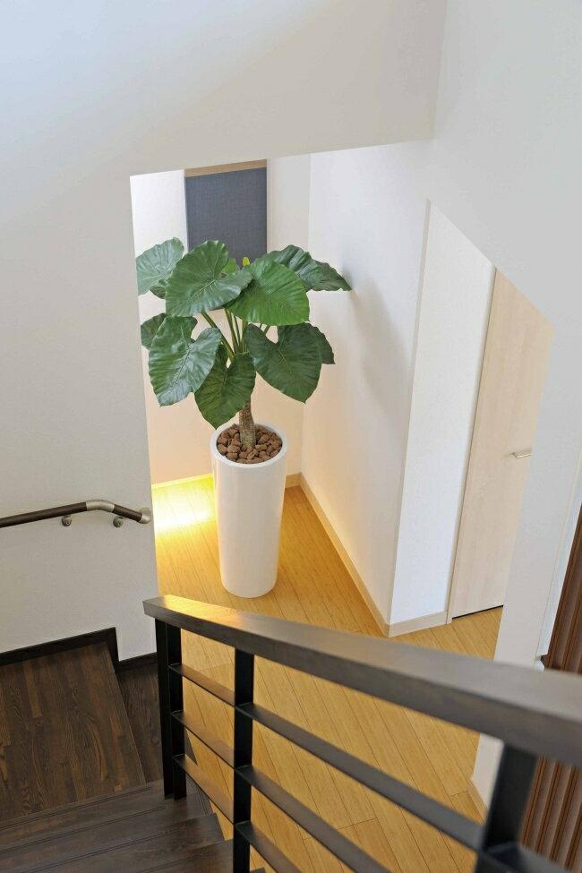 光触媒 光の楽園 アートくわず芋 高さ1.8m【インテリアグリーン 人工観葉植物 大型】