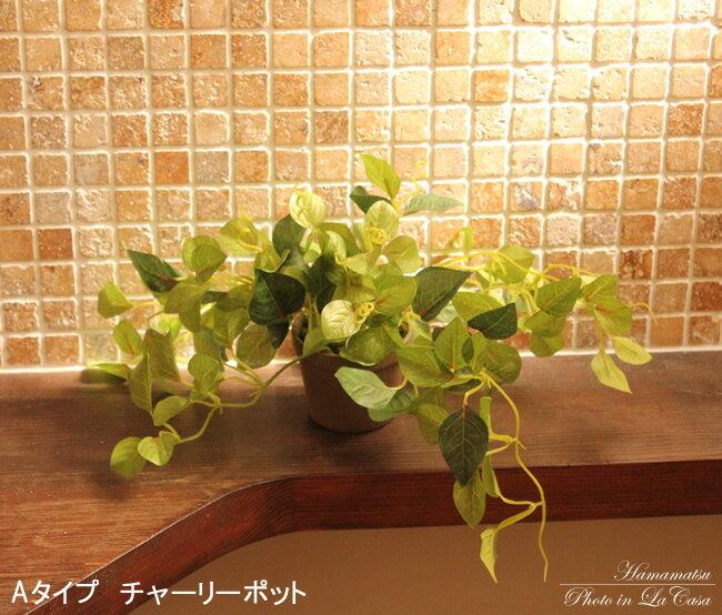 光触媒 人工観葉植物 光の楽園ミニグリーンポット 選べる4タイプ【人工観葉植物 造花 光触媒人工植物】