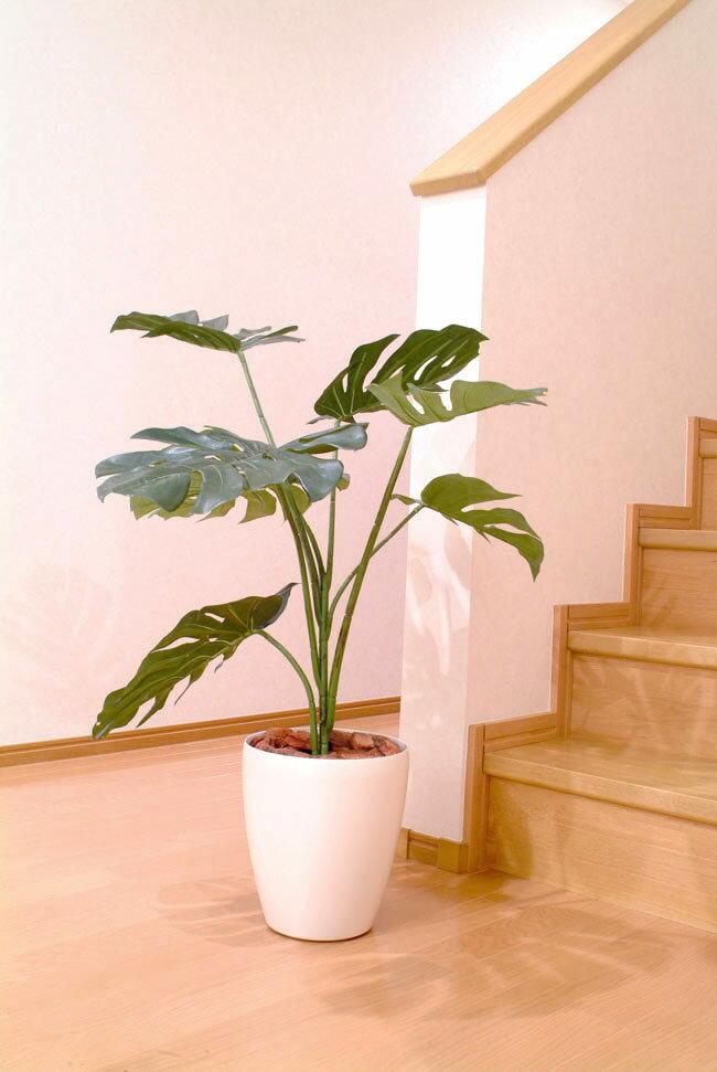 光触媒 観葉植物光の楽園 モンステラ 高さ90cmアジアン インテリア フェイクグリーン 人工観葉植物