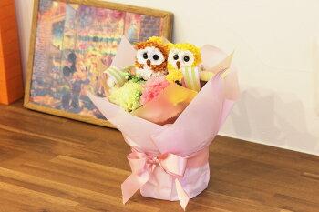 光触媒光の楽園幸せのペアフクロウ【アートフラワー造花】