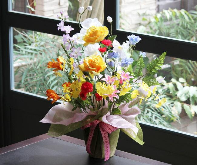 【送料無料】光触媒 光の楽園 開運8色フラワー【光触媒 造花 人工観葉植物】