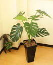 光触媒観葉植物 光の楽園モンステラBK 高さ100cm インテリア 人工観葉植物 アジアン モダン