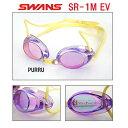 【スイムゴーグル】SWANS スワンズ ノンクッション スイミングゴーグル ミラータイプ 水泳 SR-1MEV-PURRU