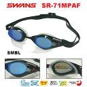 【スイムゴーグル】SWANS スワンズ クッション付き スイミングゴーグル ミラータイプ fina承認 FALCON(ファルコン) 水泳 SR-71MPAF-SMBL