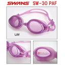 【水泳ゴーグル】【SW-30PAF-LAV】SWANS(スワンズ) クッション付きフィットネススイムゴーグル(クリアタイプ)[スイミング/水泳/女性用/UVカット]