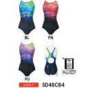 ●●【SD46C64】SPEEDO(スピード) レディース競泳水着 FLEX Σ コンフォカットスーツ2【紙箱なし】[競泳水着/女性用/F…