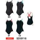 【SD56Y16】SPEEDO(スピード) レディース競泳水着 STREAM 2WAY ウイメンズスイムスーツ(縫込みパッド付き)[女性用/ワンピース/背開き小さめ]