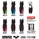 【送料無料】arena アリーナ 競泳水着 レディース スイムウェア スイミング ハーフスパッツオープンバック(クロスバック) fina承認 AQUAFORCE FUSION2 ARN-7010W