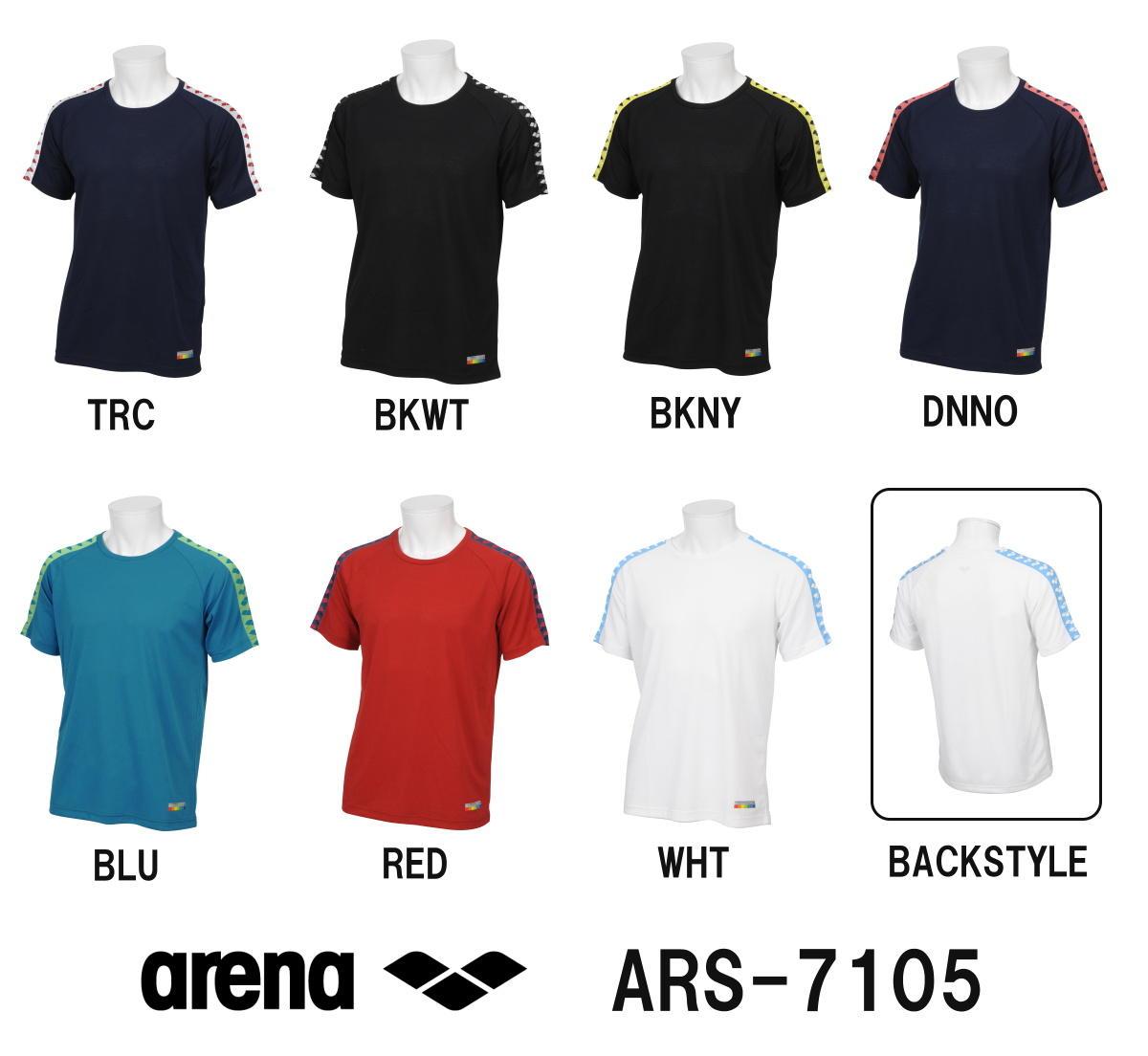 ●●【ARS-7105】ARENA(アリーナ) ポイントメッシュ Tシャツ[スイミング/水泳/アパレル/トレーニングウェア]