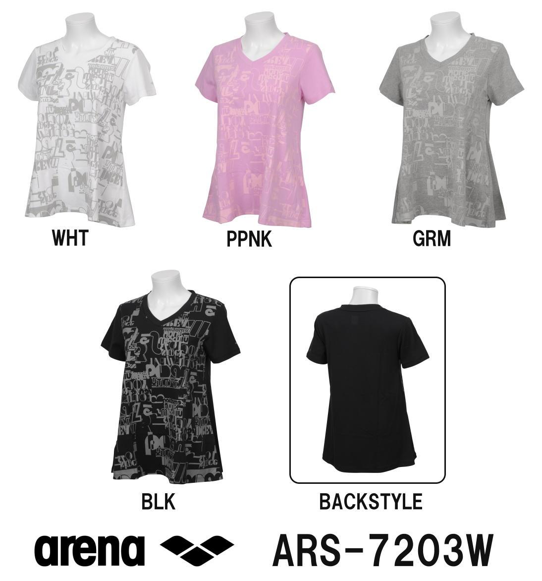 ARENA アリーナ T/C天竺 レディースAラインTシャツ ARS-7203W-HK