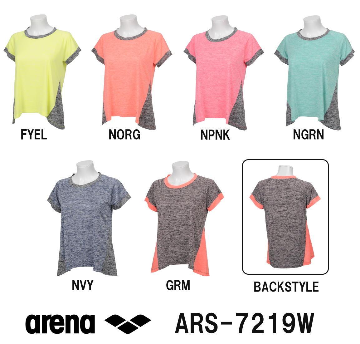 ARENA アリーナ マーブルドライニット レディースビッグシルエットTシャツ ARS-7219W-HK