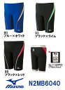 【N2MB6040】MIZUNO(ミズノ) メンズ競泳用水着 Stream Aqutiva ストリームフィット ハーフスパッツ[競泳/男性用/FINA…