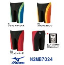 【N2MB7024】MIZUNO(ミズノ) メンズ競泳水着 Stream Aqucela ソニックフィットAC ハーフスパッツ[競泳/男性用/スパッツ]